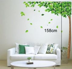 Amazon.com: Modern House Giant Big Gree Tree Wall Decor Removable Decal Wall Sticker: Baby