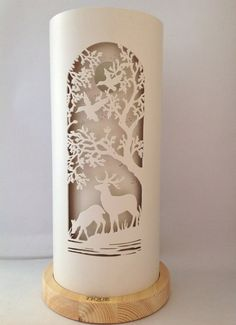 Deer Tree Table Lamp - All For House İdeas Pvc Pipe Crafts, Diy And Crafts, Tree Table, Table Lamp, Lampe Tube, Metal Design, Pvc Projects, Bright Homes, Mood Light