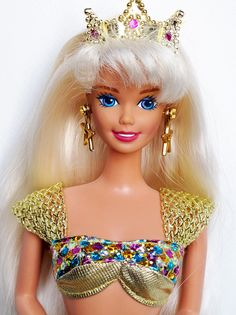 Got the JEWEL HAIR MERMAID BARBIE (1995) on my Birthday. Was by far my FAVOURITE Barbie! Loved the hair especially.