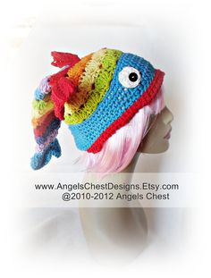 No Free Pattern. You Can But Pattern. Crocheted Fish Hat.