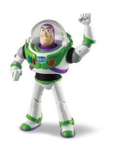 Today we're taking a step back to the mid-sized Buzz figures.  This one stands 5 inches tall.  The graphics are good, though not as good as the full-sized ones, of course.  He's got decent artiluation.  No smaller pieces move, but the arms and legs are positionable.  It's nice to see the ratings are completely positive.  He's well-designed and sturdy.  A good play figure for a younger child, but still decent enough to add to a collection.