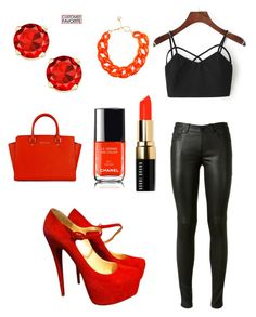"""""""red passion"""" by fashion8queen8 on Polyvore featuring Yves Saint Laurent, Christian Louboutin, Bobbi Brown Cosmetics and DIANA BROUSSARD"""