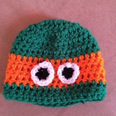 TMNT beanie style hat. Michelangelo.Other turtles also available.