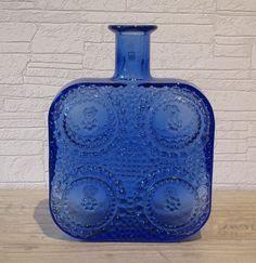 Nanny Still Glass Design, Cobalt Blue, Finland, Glass Art, Nostalgia, Objects, Vase, Vintage, Decor