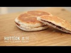Hotteok is a popular street food in Korea. It is VERY similar to pancakes. The ingredients are (dough) Wheat flour, Water, Milk, Sugar, Yeast, (mixture might contain), Brown sugar, Honey, Chopped peanuts, Cinnamon.