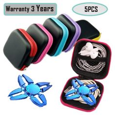 Cheap price Fidget Spinner Case Gift for Fidget Hand Spinner Finger Toy Headphone Headset Focus Bag Box Case by Jewelvwatchro[Set of 5] on sale