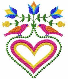 flowers birds hearts