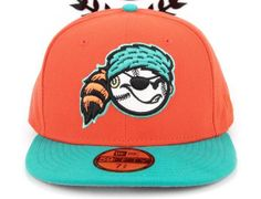 Orange Teal West Virginia Power 59Fifty Fitted Cap by NEW ERA x MiLB
