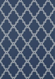 Thibaut- Graphic Resource- Stanbury Trellis Navy shop.wallpaperconnection.com