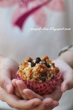 厨苑食谱: 脆酥粒~巧可力粒满分(Chocolate Chips Muffins)