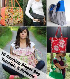 10 amazing diaper bag tutorials!