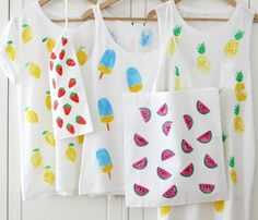 DIY Anleitung: Stoff bedrucken // fashion diy: how to print on fabric via DaWanda.com