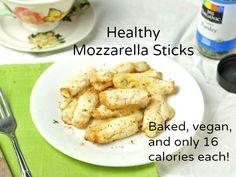 Healthy Mozzarella Sticks - reduced fat string cheese, almond milk, coconut flour, dried basil, dried oregano, salt & pepper