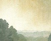 """Love this celadon green in the atmospheric perspective. From my #Etsy Treasury, """"Cognac and Celadon""""."""