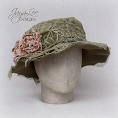 01ef607a8fa Shabby Chic Lace Hat Wide Brim Tea Party Hat