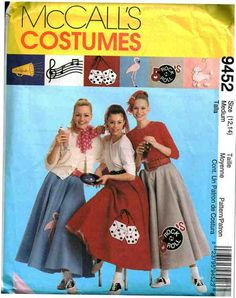 McCalls Sewing Pattern 9452 Misses Circle Skirt Petticoat