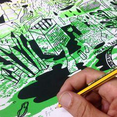 FUMAR MOLA  Serigrafía sobre papel. Editado y estampado por Bigote Sucio y El Rapto Taller en Agosto de 2015. Tamaño 42x59,5cm. Edición de 40 copias numeradas y firmadas.