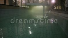 Video about Thermal pool at night - light spot and steam. Video of geothermal, architectural, medical - 80337132 Pool At Night, Thermal Pool, Nature Water, Night Light, Architecture, Photography, Arquitetura, Photograph, Fotografie