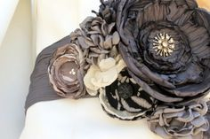 Fabric flowers in EVERY style for your whole bridal party from Make Believe'N | Offbeat Bride
