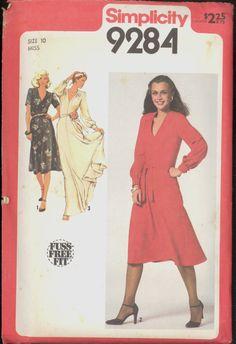 Uncut 1970s Front Tucks Maxi Dress Belt by VintagePatternsCo1
