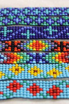 st-itch: Bead loom bracelets - cool colors