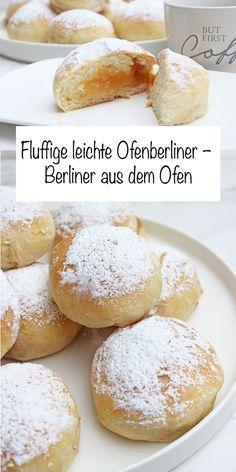 Das Ofenberliner-Rezept ist die fettarme Variante zum Berliner selber machen. Diese Ofenberliner habe ich mit Marmelade gefüllt und sind schnell gemacht. #ofenberliner #ofenkrapfenmitmarmelade #Rezepte #krapfen #sonntagsistkaffeezeit