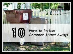 10 Creative Ways to Reuse Throwaways...I like saving bread bags to use for coating food such as chicken or pork instead of zipper bags.