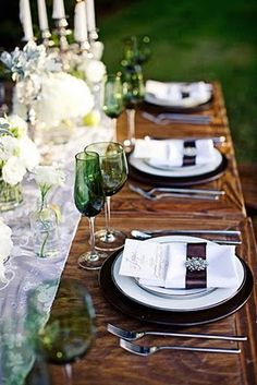 Closeup of the Twilight Wedding Inspiration table setting.