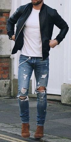 Shop Jeans, Shirts and More… IG 📸 – Männlicher stil – Men Trendy Mens Fashion, Mens Fashion Suits, Urban Fashion, Street Fashion, High Fashion, Fashion Shoes, Fashion Black, Grunge Fashion, London Fashion