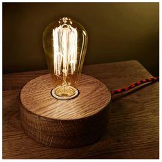 Edison Lamp,Wood Lamp,Wooden Edison Lamp,Table Lamp,Solid Wood Lamp,Retro Lamp,Night Lamp