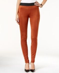Inc International Concepts Faux-Suede Leggings, Only at Macy's - Tan/Beige 8