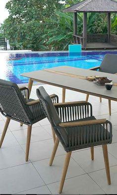 Ausgefallene Gartenstühle mit moderner Gurtbespannung für Deinen