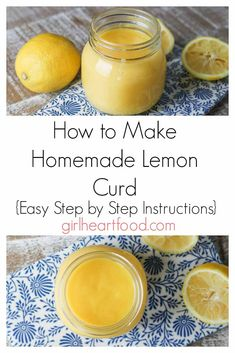 Ever wonder how to make lemon curd?& Look no further!& just a handful of simple ingredients you could make your own lemon curd from scratch.& It's beyond easy!& This one is tart, not too sweet and ultra lemony. Desserts Thermomix, Easy Desserts, Delicious Desserts, Yummy Food, Lemon Recipes, Fruit Recipes, Dessert Recipes, Jam Recipes, Thumbprint Cookies