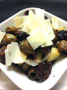 Marinated olives appetizer.