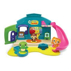 LeapFrog Learning Friends Play & Discover School Set- Join Tiger, Turtle and Monkey in class for five school activities and unique stories, songs and phrases. School Sets, School Play, Toddler Boy Toys, Kids Toys, Baby Toys, Toys R Us, Top Gifts For Girls, Girl Gifts, Cool Toys For Boys