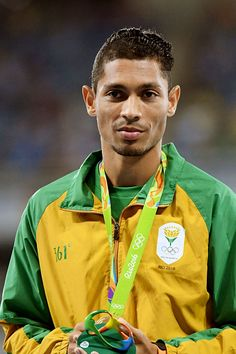 Wayde in the Poduim during during Athletics on Olympic Games 2016 in Rio at…