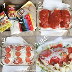 The kids will devour this healthy 4 ingredient dinner recipe! Easy Pizza Chicken Bake from thepinningmama.com