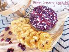 Holiday Cranberry Cheese Ball - Simply Designing with Ashley Thanksgiving Recipes, Holiday Recipes, Yummy Eats, Yummy Food, Tasty, Cheese Ball Recipes, Dip Recipes, Cranberry Cheese, Appetizers For Party
