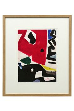 Abstract watercolor painting by Jacques Nestle (1907-1993) France, circa 1970