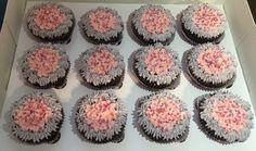 Pink and purple princess cupcakes