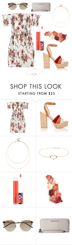 """Summer Date Night"" by maddeyreed ❤ liked on Polyvore featuring Gianvito Rossi, Sole Society, Aliita, MAC Cosmetics, Lime Crime, Jimmy Choo and Michael Kors"