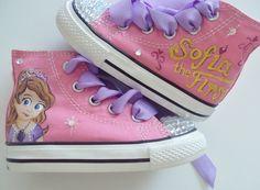sophia princess converse hand painted | Sofia the First Hand Painted Converse by IPaint4Kids on Etsy