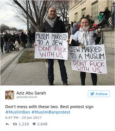 Best Signs From Muslim Ban Protests