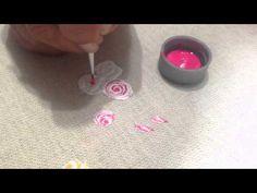 Helena Tassano - Dica de Pintura em Tecido - Rosas em relevo