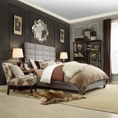 Found it at Wayfair - Ophelia Upholstered Panel Bed