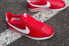 #Nike WMNS Classic Cortez Action Red/White #sneakers