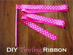 How to Make a Twirling Ribbon! ~ at TheFrugalGirls.com {Dance. Play. Twirl. Repeat. Your little girls will love this!} #kids #crafts #dance
