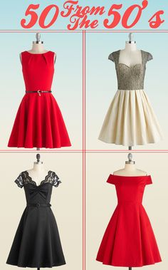 50 from the 50's: 50 Vintage Inspired Bridesmaid Dresses