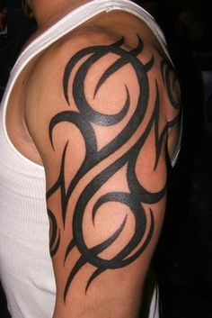 Half Sleeve Tribal Tattoo Design Ideas For Men - http://tattooideastrend.com/half-sleeve-tribal-tattoo-design-ideas-for-men/ - #Design, #Tattoo, #Tribal