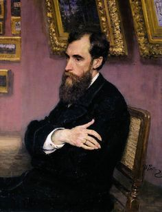 """artist-repin: """" Portrait of Pavel Tretyakov, Founder of the Tretyakov Gallery, 1883, Ilya Repin Size: 76x98 cm Medium: oil, canvas"""""""